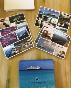 A gift of gratitude?  This cruise line gives blank cards to their travel agents (who in turn utilize to thank their cruisers)...