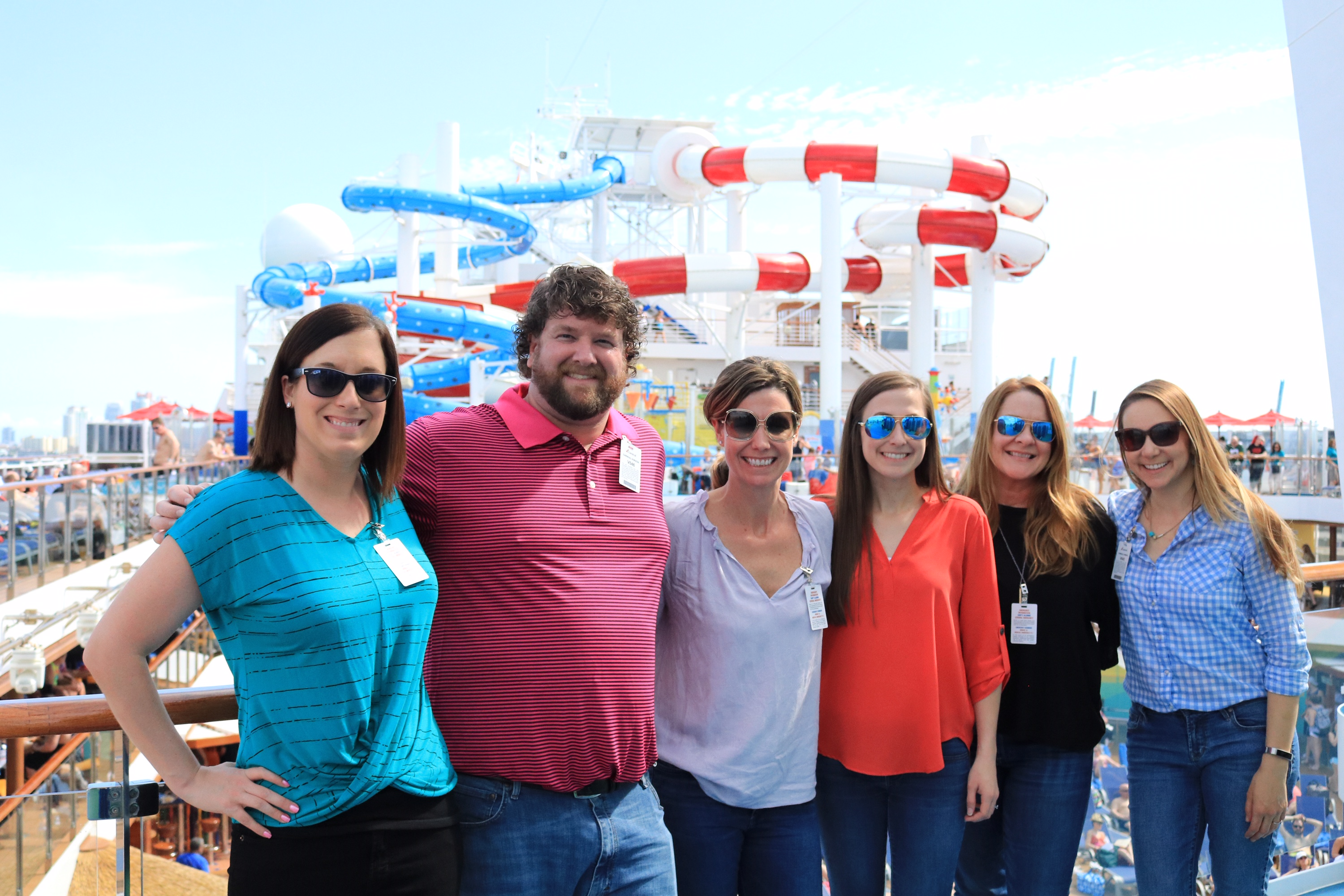 Touring the Carnival Horizon (a client) at the port of Miami.